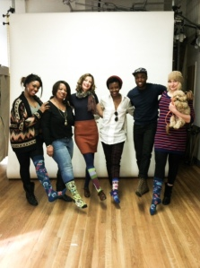 Roodelyne with the Rsocks team at a recent photoshoot